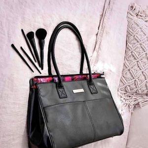 Mary Kay black leather bag purse